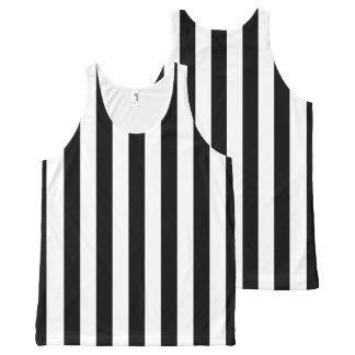 Referee Stripes All-Over Print Tank Top