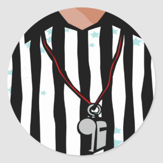 Referee T-shirts and Gifts. Classic Round Sticker