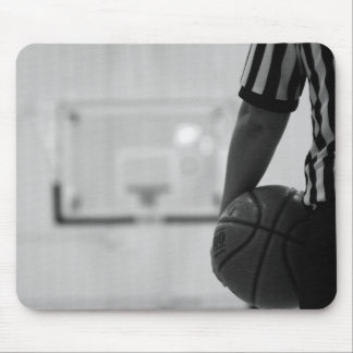 Referee Time out (Basketball) Black and White Mous Mouse Pad