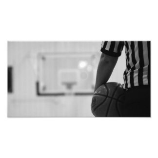 Referee Time out (Basketball) Black and WhitePhoto Photo Print