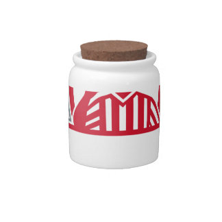 Referee Umpire Official Whistle Side Crest Retro Candy Jar