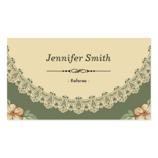 Referee - Vintage Chic Floral Double-Sided Standard Business Cards (Pack Of 100)