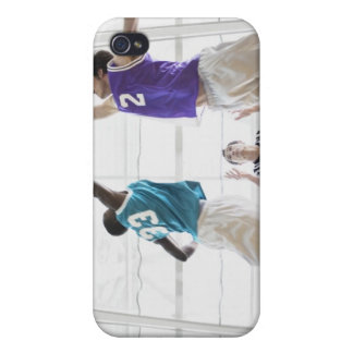 Referee watching basketball players jumping covers for iPhone 4