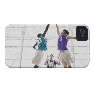 Referee watching basketball players jumping iPhone 4 case