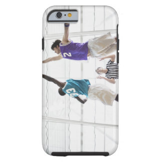 Referee watching basketball players jumping tough iPhone 6 case