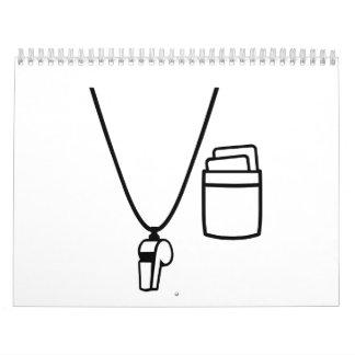 Referee whistle calendar