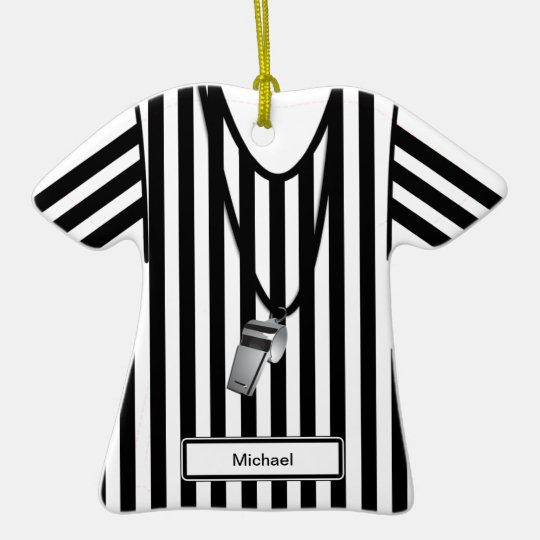 Referee & Whistle Christmas Ornament