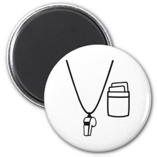 Referee whistle 2 inch round magnet