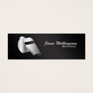 Referee Whistle Skinny Business Cards