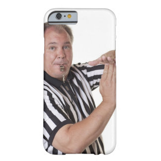 Referee with Time out signal and whistle Barely There iPhone 6 Case
