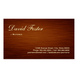 Referee - Wood Grain Look Double-Sided Standard Business Cards (Pack Of 100)