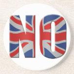 Referéndum escocés de la independencia - vote no posavasos diseño