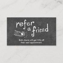 Referral Card | Cute Chalkboard Animal Drawing