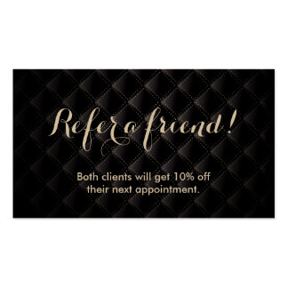 Referral Card | Luxury Black & Gold Business Card