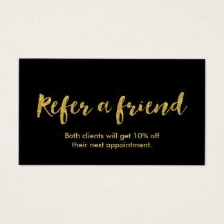 Referral Card | Modern Gold Script
