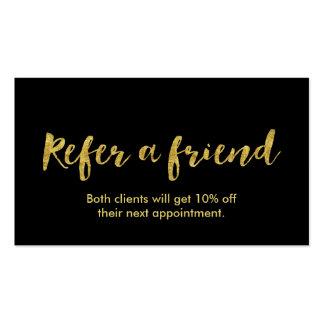 Referral Card | Modern Gold Script Business Card