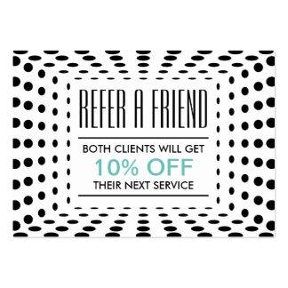Referral Card | Modern Halftone Dots
