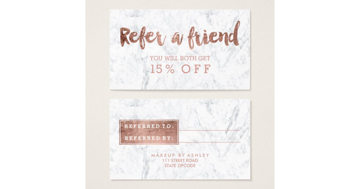 Business Card Referral Quotes Images - Card Design And Card Template