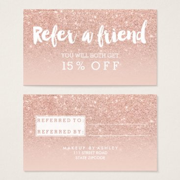 girly_trend Referral card modern typography blush rose gold