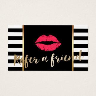Referral Card | Red Lips Makeup Artist Modern