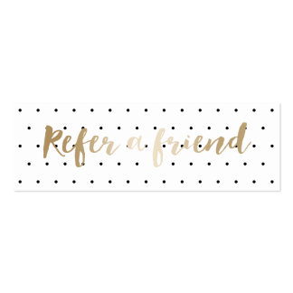 Referral Card | Simple Polka Dots Classy Gold