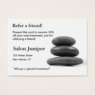 Referral Card with Balancing Stones
