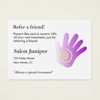 Referral Card with massage hand