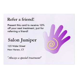 Referral Card with massage hand Business Cards