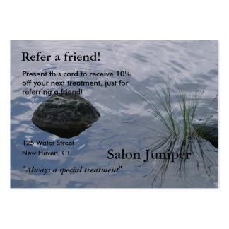 Referral Card with water and stones Business Card