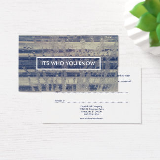 referral program winter window business card