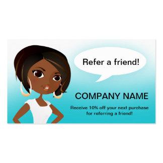 Referral Tell a Friend Business Card