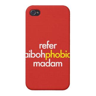 """Refiera Aibohphobia, señora "" iPhone 4/4S Carcasas"