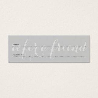 refiera los grises de un amigo tarjetas de visita mini