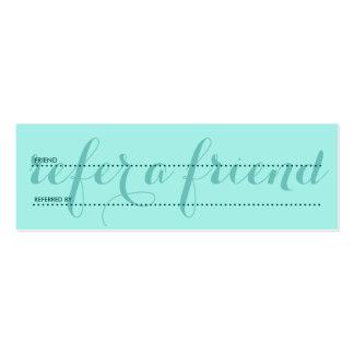 refiera los verdes de un amigo tarjetas de visita mini