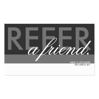 refiera una capa del amigo tarjetas de visita