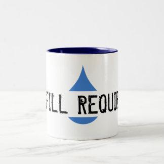 REFILL REQUIRED Blue Stilistic Drop Two-Tone Coffee Mug