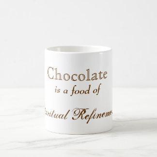 Refinamiento del espiritual del chocolate taza