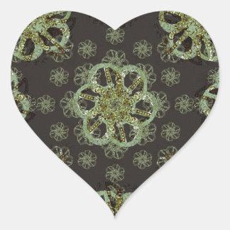Refined Arabic Ornamet Pattern Heart Sticker