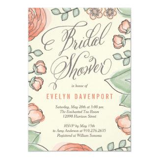 Refined Bloom Bridal Shower Invitation
