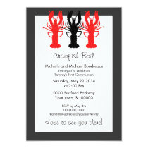 Refined Crawish / Lobster boil invitations