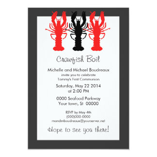 Refined Crawish / Lobster boil invitations
