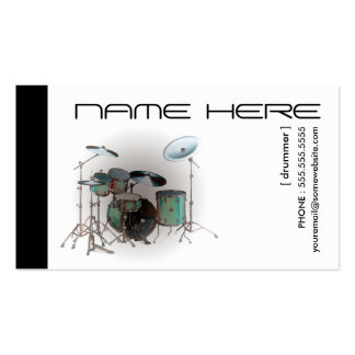 refined drums business card
