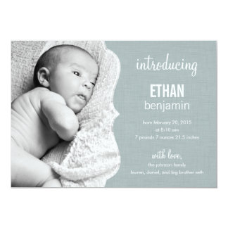 Refined Elegance Baby Birth Announcement