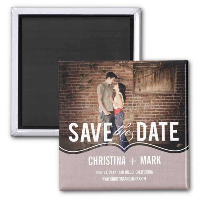 Refined Elegance Save The Date Magnet - Pink