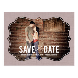 Refined Elegance Save The Date Postcard - Pink Post Card