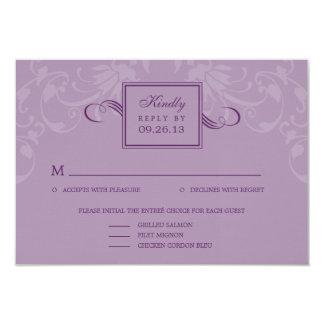 Refined Elegance Wedding RSVP Cards - Purple