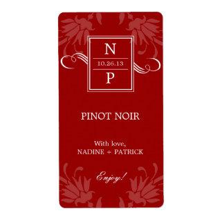 Refined Elegance Wedding Wine Labels