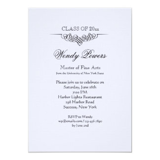 Refined Flourish Graduation Invitation
