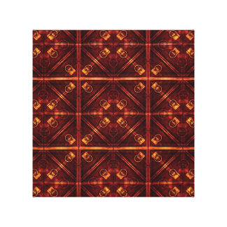 Refined Geometric Pattern Stretched Canvas Prints