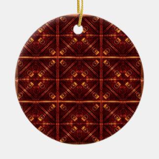 Refined Geometric Pattern Ceramic Ornament